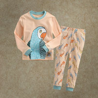 New Designs Children Sleepwear Clothes Sets Cotton Parrot Printed Shirts And Pants Infant Pajamas Suits PJ40816-23