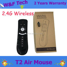Hot sales Smart Remote control arab 2.4g air mouse t2