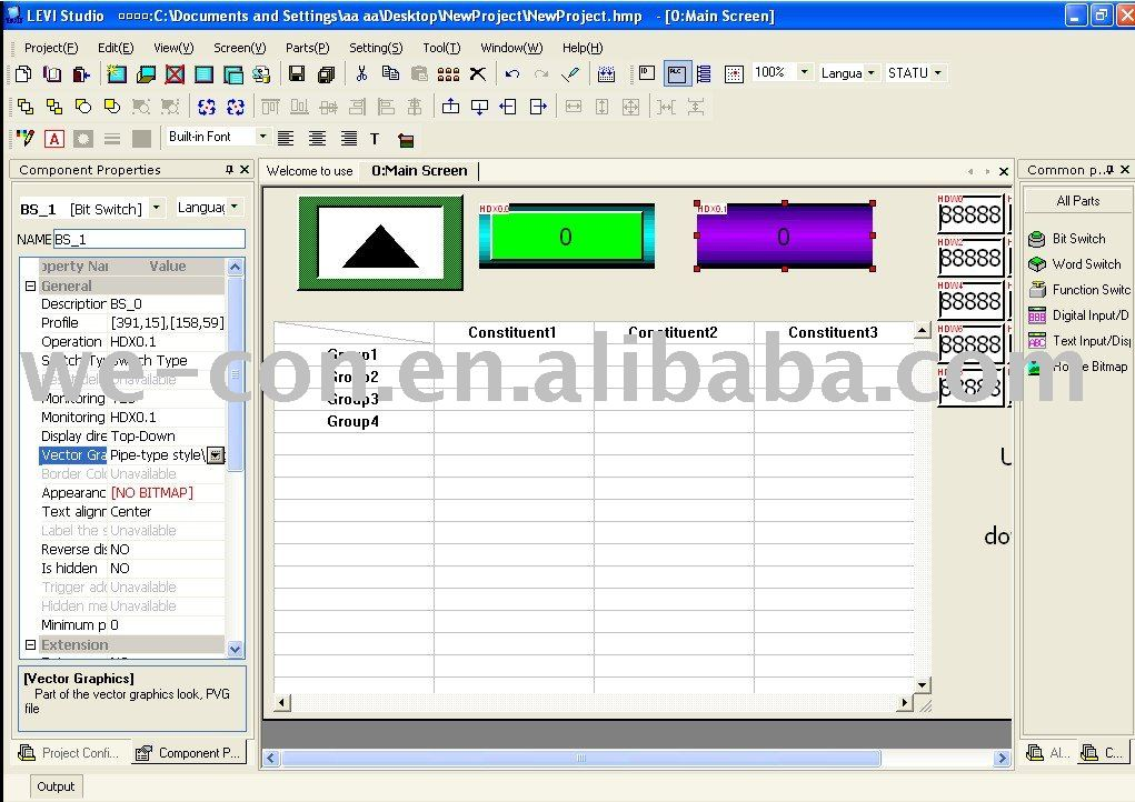 Wecon hmi Screen Editor Software-easy software programs,support most brand plc