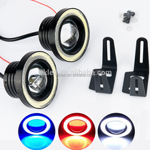 "2Pcs/lot 12V 30W 64mm 2.5"" Projector Car LED Fog Light w/ COB Halo Angel Eye Rings Universal Bright Auto Spot Light Head Lamp"