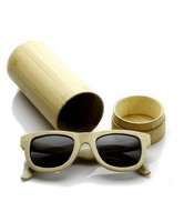 Eco-friendly sunglasses handcrafted bamboo sunglass with case