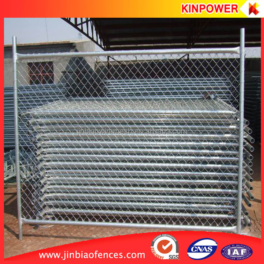 Removable temporary construction chain link fence