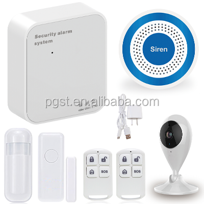 2016 New Factory Price PGST wireless Home WIFI+GSM/GPRS burglar alarm system with IP Camera with APP control PN-602