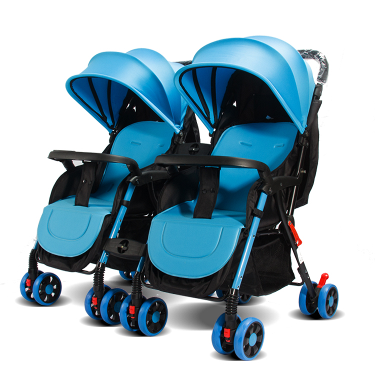 double baby carrierfoldable baby walkers detachable twin baby stroller
