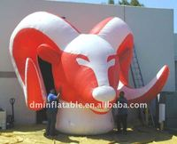 advertisement inflatable ox head