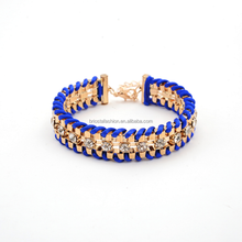 Wholesale Cuff Fine Weaven Metal Resin Bracelet