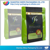 High quality flat bottom plastic pouch/ snack packaging bag