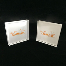 Best quality small acrylic engraved logo block display