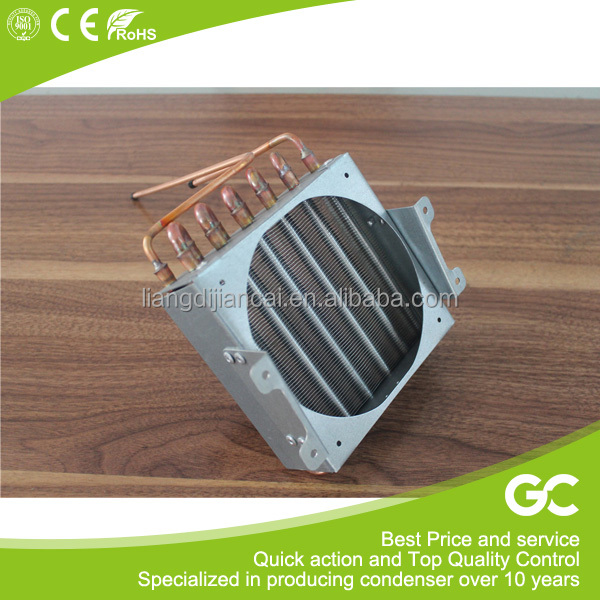 Whoesale aluminium fin copper tube condenser for ice maker