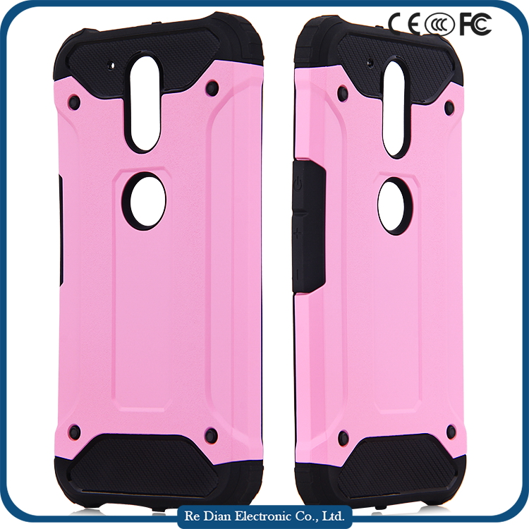Hot selling TPU PC 2 in 1 Hybrid Phone Case for motorola g4 play