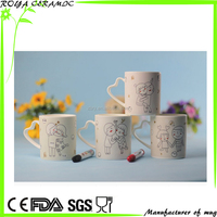 ceramic hand-drawing mug with color pen