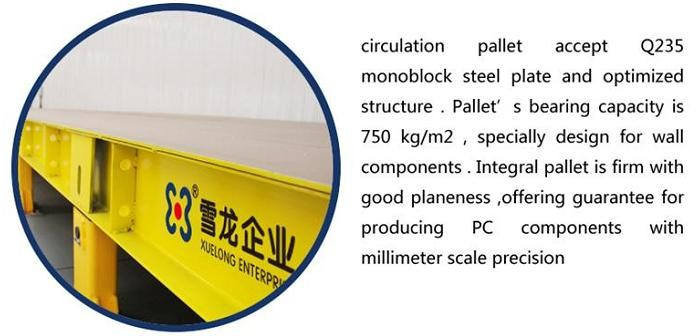 Steel pallets for the precast concrete block, circulation pallets for sell