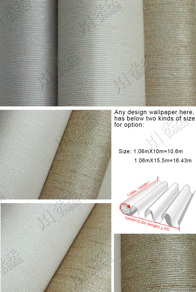 Cheap pvc soundproof hotel wallpaper for the walls