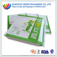 custom printed coloured greaseproof paper bags for fried food