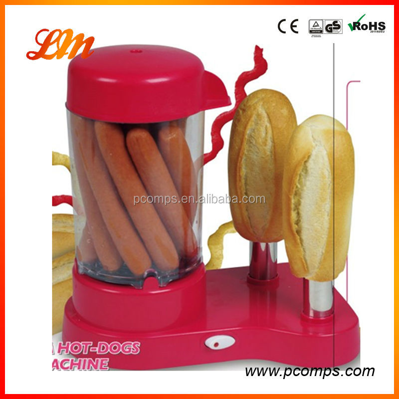 S/S 2 in 1 Hot Dog Maker Machine with Two Vertical Spikes