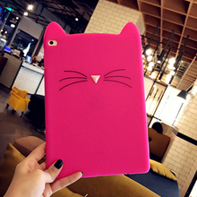 Soft Cute Cat Rubber Silicone Covers Cases for Ipad pro9.7
