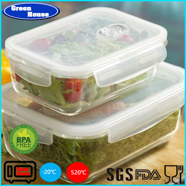 Glasslock Food Storage Container Set/Clear High Resistance Glass Meal Prep Containers