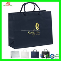 NZ157 Wholesale Custom Made 10x8 Paris Matte Shopper Packaging Bag Paper with Handle