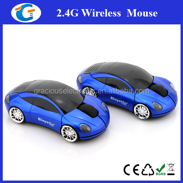 2.4ghz wireless mouse with mini cute car design