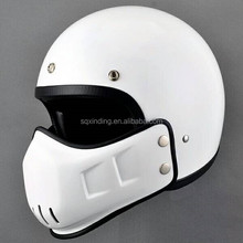 Open Face White Double Visor Motorcycle Helmets With Miniature helmet