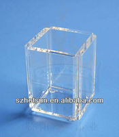 clear 5 sides acrylic pen holder,actylic brush pot,acrylic pen container