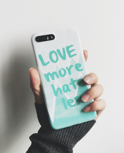 HOT-Selling Letters Love Pink & Green TPU IMD Phone Case for iPhone