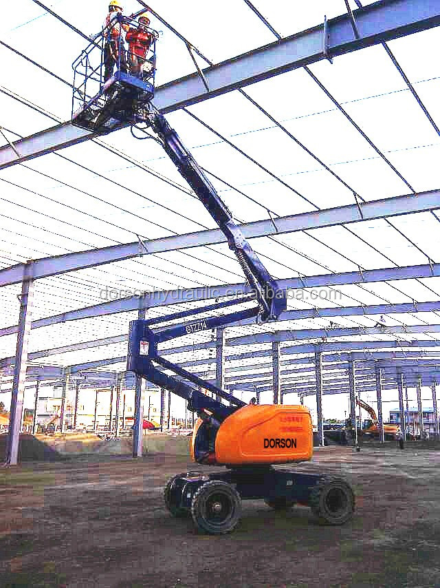 16 Meters Electric Telescopic Crank Arm Lift/boom Lift