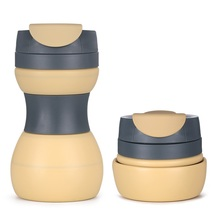Promotion 17 oz Soft Silicone Foldable Coffee Travel Mug Cup