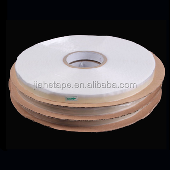 HDPE15mm resealable adhesive clear bag tape