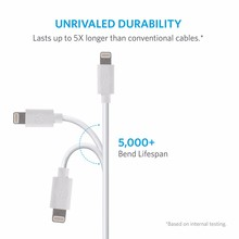 MFi Certified 8 Pin USB Cable, MFi Data Sync Power Charging Cable for iPhone X 8 7 6 6S Plus 5 5S SE Compatible With iOS 11 10 9