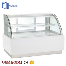 hot sale cooling cake showcase arc shape glass display cake refrigerator cabinet