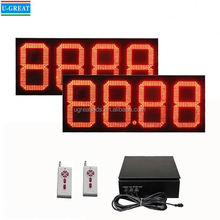 wireless big size outdoor waterproof 7 segment led digital display led cross sign display