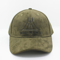 Custom Suede Baseball Cap With Embroidery
