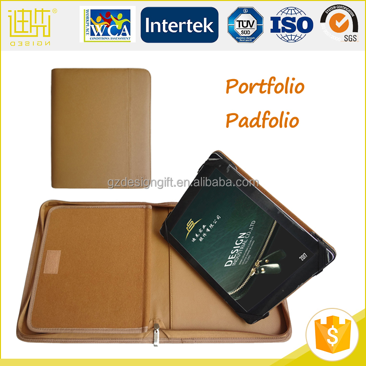Top selling PU leather portfolio shockproof case for tablet