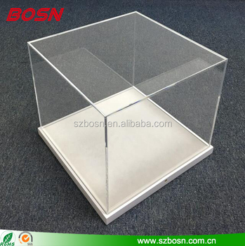 Clear perspex Acrylic Counter Top Display Case Box