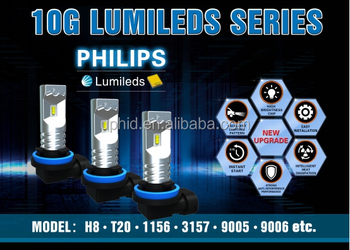 Newest G10 30W 800lm Philip lumileds 1156 1157 7440 7443 3156 3157 H8 H9 H11 H16 9005 9006 H10 auto car led bulb