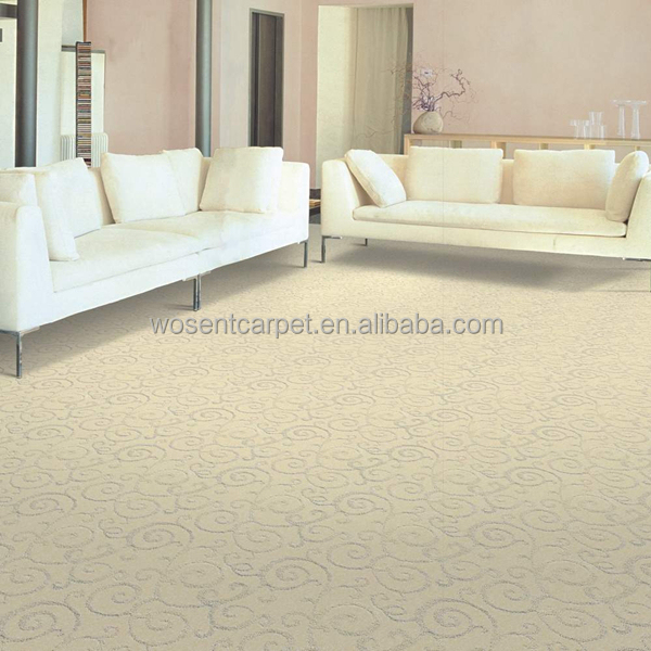 Plain Color High Low Loop Pile 100% PP Tufted Wall to Wall Carpet