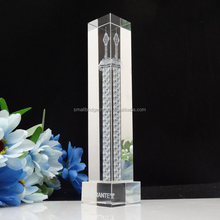3d laser engrave Chinese crystal tower building model for souvenir gifts DSC04615
