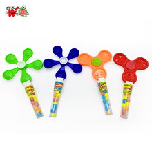 Plastic hand finger spinner candy dispenser toy of tablet shaped