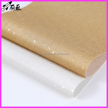 Hot sale good quality cheap price PVC leather for sofa chair car cover seat D90 cheap knitted backing
