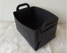 Wool Felt Foldable Handy Storage Basket Hamper Storage Bins Baskets Sorter Decor Baskets Space
