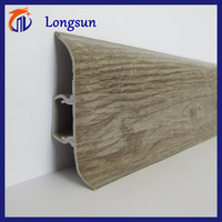 Wood grain dalle pvc flooring skirting board with CE certification