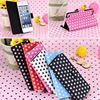 Polka dot pattern leather case for iPod Touch 5