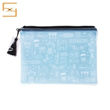 The best price high quality fashion plastic pvc ziplock bag water proof ziplock frosted PVC bags