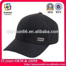 High Quality Black Cotton blank Baseball Cap for sale