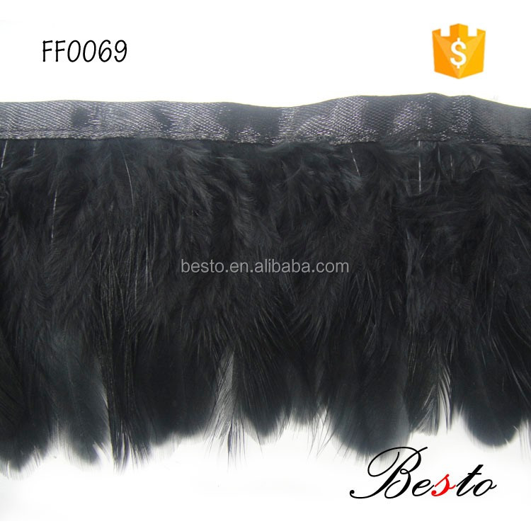 Clothes decoration dyed black feather for carnival party