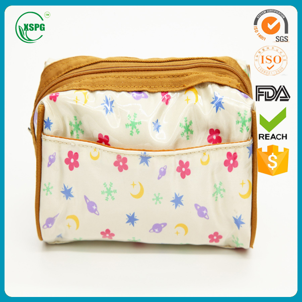 2016 Color Printed Custom Mini Gift Bag PVC Travel Make Up Case Toiletry Bag PVC Reusable Cosmetic Pouch with Zipper