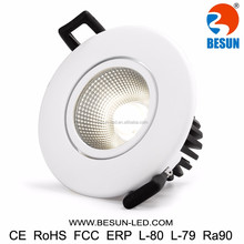 6w/9w led commercial downing lights 25/38/60deg 9watt office downlight 4000k