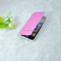 New Arrivals TPU+Carbon Fiber Leather High Quality Cover for Iphone 5s with Sucker Buckle