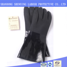 Black flannelette lining surface sand impact gloves <strong>safety</strong>